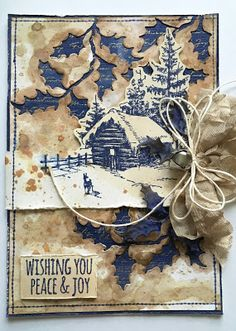 SewPaperPaint: Tim Holtz Scribble Woodlands Christmas Card