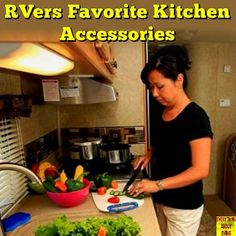 RVers Favorite Kitchen Accessories - RVers Favorite Kitchen Accessories… Read More: www.everything-ab… Happy RVing! Camping Glamping, Camping Meals, Family Camping, Camping Hacks, Rv Hacks, Camping Recipes, Life Hacks, Camper Life, Rv Life