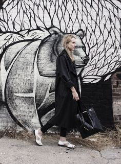 THE COAT | #outfit #industryfiles #graffitti #fashion