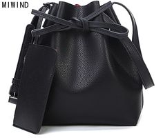 $30.90 (Buy here: https://alitems.com/g/1e8d114494ebda23ff8b16525dc3e8/?i=5&ulp=https%3A%2F%2Fwww.aliexpress.com%2Fitem%2FFree-shipping-Fashion-2015-candy-color-fashion-all-match-bucket-bag-one-shoulder-cross-body-women%2F32277391243.html ) MIWIND Fashion 2016 candy color fashion all-match bucket bag  pu leather one shoulder cross-body women's handbags for just $30.90