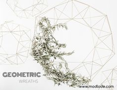 At Modlode we sell a variety of sizes and metallic finishes in our Geometric wreaths. Festival Decorations, Wedding Decorations, Copper Rose, Geometric Wedding, How To Make Wreaths, Holiday Wreaths, Merry And Bright, All Things Christmas, Table Centerpieces