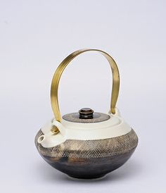 Yasuko Ozeki teapot with brass handle.. so beautiful