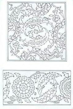 Çini Turkish Design, Turkish Art, Turkish Tiles, Portuguese Tiles, Moroccan Tiles, Border Pattern, Pattern Art, Pattern Design, Tile Patterns