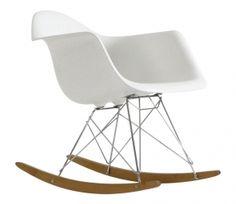 Cadeira Eames Balanço   Branca