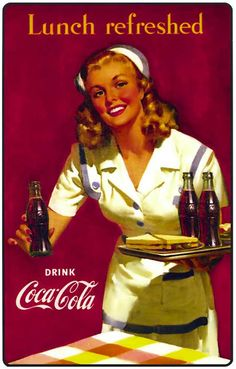 Best Vintage Posters Women Pin Up Girls Coca Cola Ideas Coca Cola Vintage, Pub Vintage, Vintage Nurse, Vintage Signs, Vintage Kitchen, Wedding Vintage, Vintage Santas, Coca Cola Poster, Coca Cola Ad