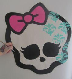 "MONSTER HIGH room ideas hand painted wallpaper murals by me Roxanne ""allmuralshandpainted"" on etsy. Great MONSTER HIGH bedroom decor room ideas for your little monster. https://www.etsy.com/shop/AllMuralsHandPainted?ref=listing-shop-header-item-count"