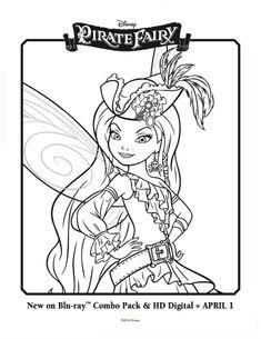 Pirate Fairy Coloring Sheet - Silvermist