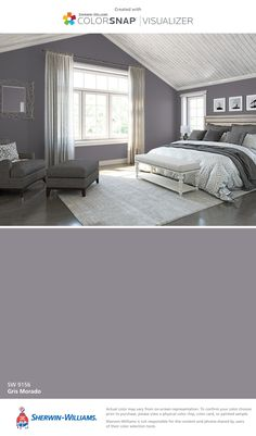 I found this color with ColorSnap® Visualizer for iPhone by Sherwin-Williams: Gris Morado (SW 9156).