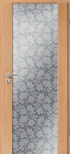 Porte intérieure contemporaine type 2100 motif spider négatif