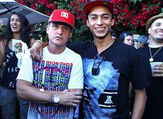 Legendary pro skaterborder & tv personality Rob Dyrdek with AYC's Nyjah Huston