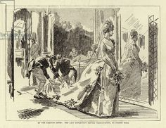 At the Drawing Room, the Last Reflection before Presentation (engraving) Court Dresses, Royal Dresses, History Images, Art History, Shakespeare Plays, Kingdom Of Great Britain, Gilded Age, Buckingham Palace, Drawing Room