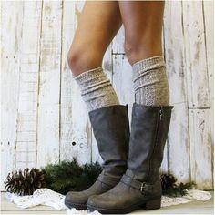 ALPINE  tall boot socks -  oatmeal