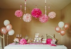 Pink DIY Party Package with 12Person Tableware by BubblyNewYork, $104.95