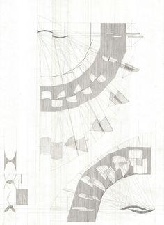 """Form Eclipsing Each Other-1"" 2014, 22″x30″, Pencil on Paper -- 136-Nicole Wiznitzer-06 -- http://www.nicolewiznitzer.com/"