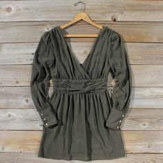 Midnight Sage Fall Dress! Lovely But...I would wear it as a tunic