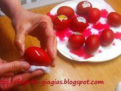 Πασχαλινά αυγά - πώς τα βάφουμε με φυσικές βαφές ή του εμπορίου Easter Colors, Food And Drink, Fruit, Vegetables, Blog, Vegetable Recipes, Blogging, Veggies