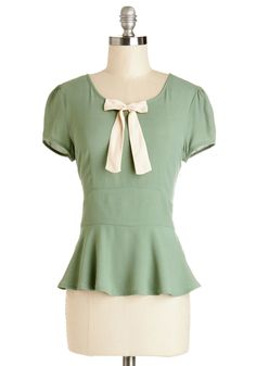 Everything You Love Top. Its hard not to feel absolutely cheerful, when you wear this olive-green blouse! #green #modcloth