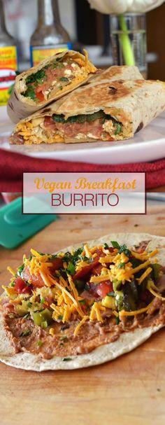 BREAKFAST BURRITO vegan recipe