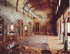 Villa Igea. Interiors designed by Ernesto Basile and Ettore De Maria Bergler, great example of Art Nouveau.