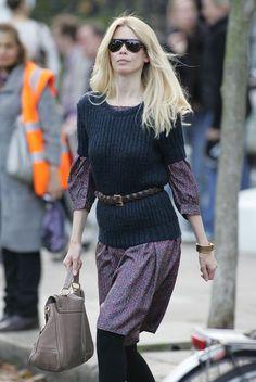 Claudia Schiffer Leather Belt - Claudia Schiffer Looks - StyleBistro
