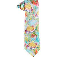 A perfect fit for a Florida lifestyle, this Leoma Lovegrove tie features a print of Leoma Lovegrove's original Trigger artwork.