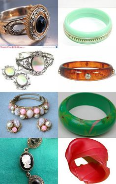 Vintage bracelets for everyone!-- Pinned with TreasuryPin.com