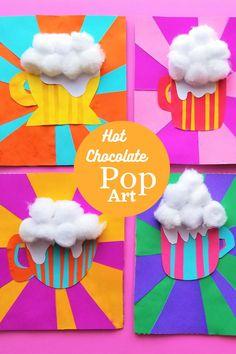 Make the coolest, er hottest Pop Art around! Chocolate Pops, Fun Crafts For Kids, Recycled Crafts, Art Activities, Disability, Cool Art, Art Projects, Art Ideas, Homeschool