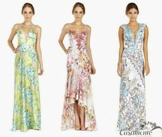 Madrinhas de casamento: Vestido de festa estampado! Why not?