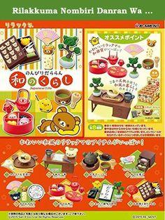 Rilakkuma Nombiri Danran Wa no Kurashi Japanese Life 8 Packs 1 BOX full set by Re-Ment. body size: H115mm ~ W70mm ~ D50mm;(C) San-X.
