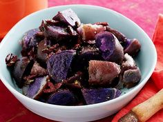 Purple Potatoes with Rosemary and Olives