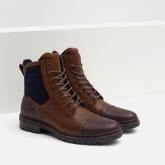 Image 5 of COMBINED BOOTS WITH GRIP SOLE from Zara