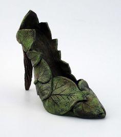 Ceramic Sculpture Garden Goddess Shoe  Made to order by Mudgoddess, $135.00