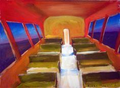 tren vacio . Venta de pinturas sobre trenes. Paintings of trains for sale. venda de pinturas de trens.