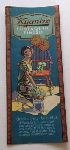 Vintage Paint Brochure Kyanize Lustaquik Boston Varnish Company Ad Color Card