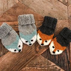 Fox mittens Ravelry: Fox mittens pattern by Eva Norum Olsen Record of Knitting String rotating, weaving and stitching jobs such as f. Baby Mittens Knitting Pattern, Baby Knitting Free, Knit Mittens, Knitting For Kids, Knitting Patterns Free, Fingerless Mittens, Knitting Tutorials, Hat Patterns, Loom Knitting