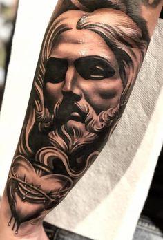 50 Tatuagens Religiosas incríveis você para se inspirar | TopTatuagens Badass Sleeve Tattoos, Cool Chest Tattoos, Cool Forearm Tattoos, Dope Tattoos, Arm Tattoos For Guys, Body Art Tattoos, Hand Tattoos, Tattoo Ink Sets, Tattoo Sleeve Designs