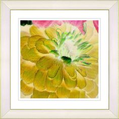 Yellow Dahlia by Zhee Singer Framed Fine Art Giclee Painting Print