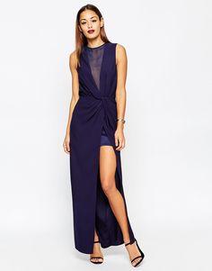 ASOS COLLECTION ASOS Twist Plunge Maxi Dress