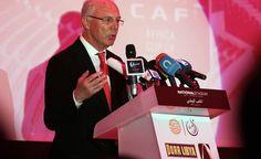 Franz Beckenbauer durante un discurso el pasado 26 de febrero del 2014 en la ceremonia de colocación de la primera piedra de un estadio par...