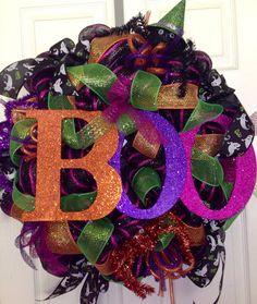 Halloween Wreath by JustADreamXOX on Etsy