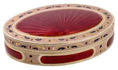 A GOLD AND ENAMEL SNUFF BOX, MARKED LG, POSSIBLY SWISS, 19TH
