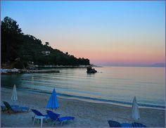 Dusk in Golden Beach - Thassos Macedonia Greece  #Macedonia2014 #Greek #Beaches