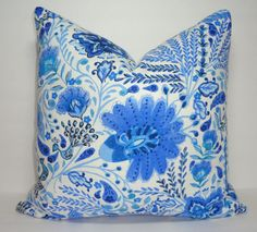 NEW Colorful Waverly Peacock  Blue Peacock Print by HomeLiving