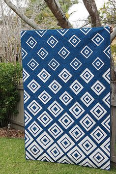 Diamonds in the Deep with navy and white -- WOW - pattern here at http://bonjourquilts.bigcartel.com/product/diamonds-in-the-deep