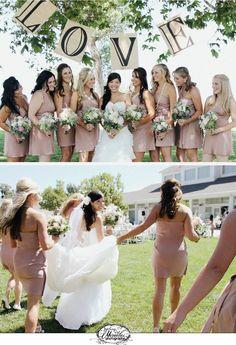 creative bridesmaid pictures