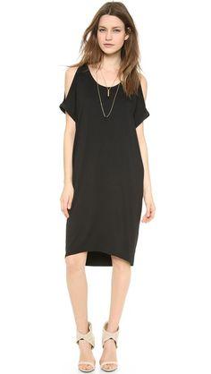 "LA't by L'AGENCE T-Shirt Dress with Shoulder Cutout. $135. length 39-42"""