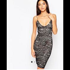 NWT ASOS lace midi dress Literally got this in the mail today and it didn't fit me. Reselling or will return. ASOS Dresses Midi