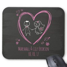 #Personalized Cute Couple Wedding | Mousepad - #wedding gifts #marriage love couples