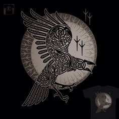 Drawn raven germanic - pin to your gallery. Explore what was found for the drawn raven germanic Art Viking, Rune Viking, Viking Raven, Celtic Raven, Simbolos Tattoo, Rabe Tattoo, Inca Tattoo, Corvo Tattoo, Symbole Viking