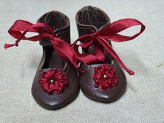 LEATHER DOLL SHOES FOR ANTIQUE GERMANY OR FRENCH DOLL / Leder Puppenschuhe